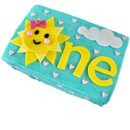 you are my sunshine first birthday cake DIY kit from Cake 2 The Rescue