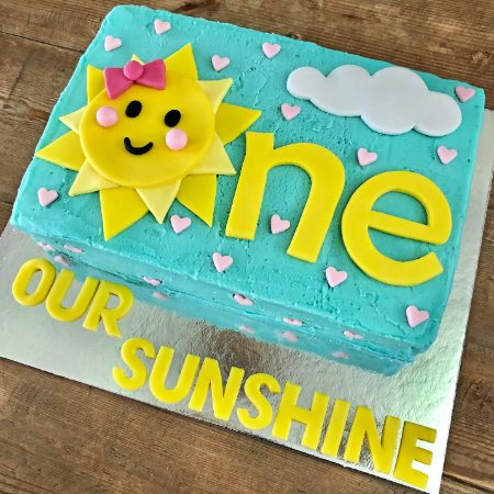 you are my sunshine first birthday DIY cake kit from Cake 2 The Rescue