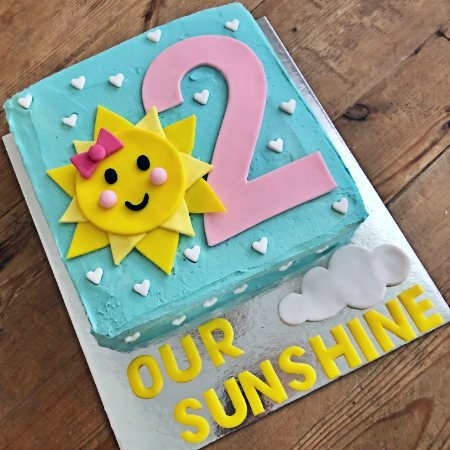 you are my sunshine second birthday cake idea kit from Cake 2 The Rescue