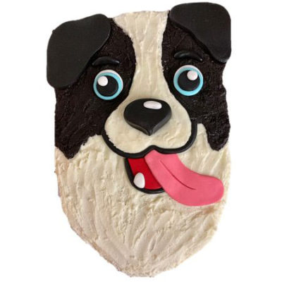 cute border collie dog birthday cake DIY kit from Cake 2 The Rescue