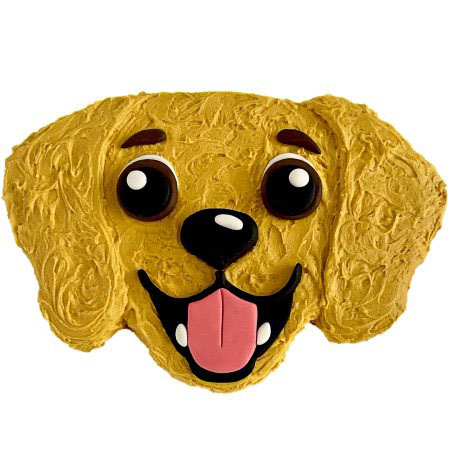 cute golden retriever birthday cake DIY kit from Cake 2 The Rescue