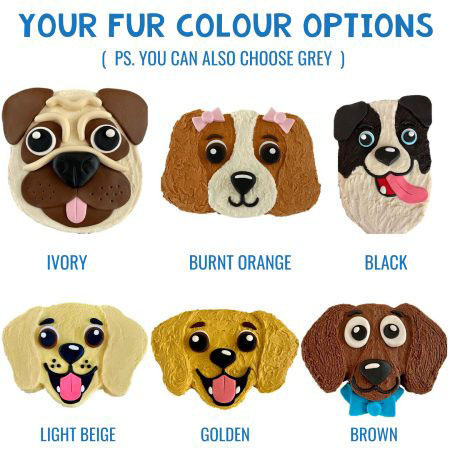 dog birthday cake DIY kits colour options from Cake 2 The Rescue