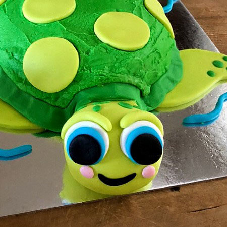 easy turtle baby shower cake from Cake 2 The Rescue