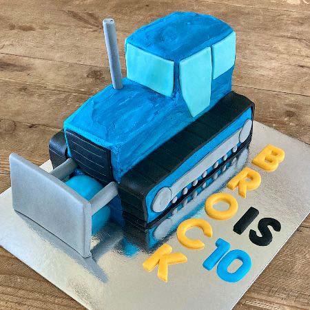 birthday boy bulldozer construction birthday cake DIY cake kit from Cake 2 The Rescue