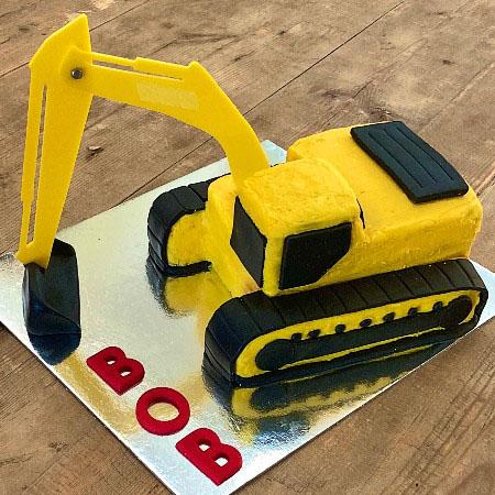 excavator construction birthday cake DIY cake kit from Cake 2 The Rescue